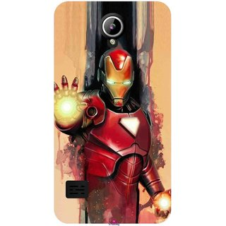 Snooky Printed 1019,Iron Man Painting Mobile Back Cover of LYF Flame 2 - Multi