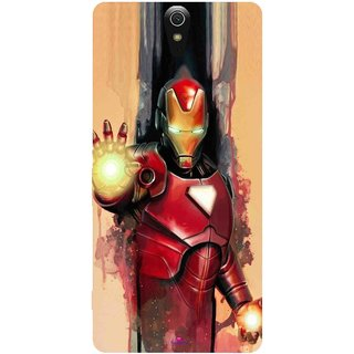 Snooky Printed 1019,Iron Man Painting Mobile Back Cover of Sony Xperia C5 - Multi