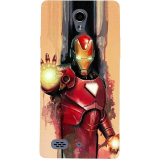 Snooky Printed 1019,Iron Man Painting Mobile Back Cover of Oppo Joy 3 - Multi