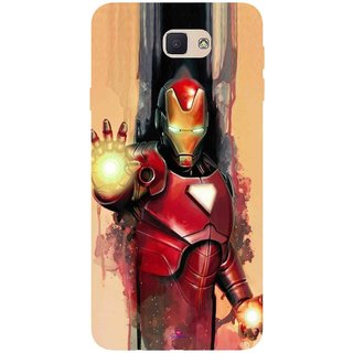 Snooky Printed 1019,Iron Man Painting Mobile Back Cover of Samsung Galaxy J7 Prime - Multi