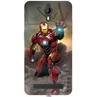 Snooky Printed 1020,Iron Man Power Mobile Back Cover of Panasonic P77 - Multi