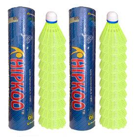 Hipkoo CONFIDENT PLASTIC SHUTTLECOCK ( COMBO OF 2 PACK 20 SHUUTLECOCKS )