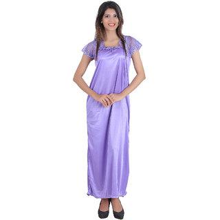 Buy Glossia Purple Satin Nighty   Night Gowns Online - Get 69% Off f15ddfa59