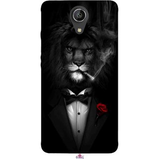 Snooky Printed 1030,liON BLACKSUIT Mobile Back Cover of Intex Aqua Freedom - Multi