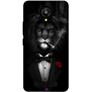 Snooky Printed 1030,liON BLACKSUIT Mobile Back Cover of Lava Iris X1 Selfie - Multi