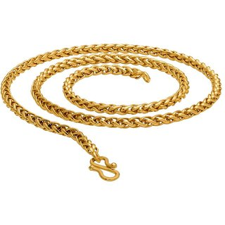 7228957600de5 Buy Dare by Voylla Golden Links Yellow Gold Plated Link Chain Online - Get  70% Off