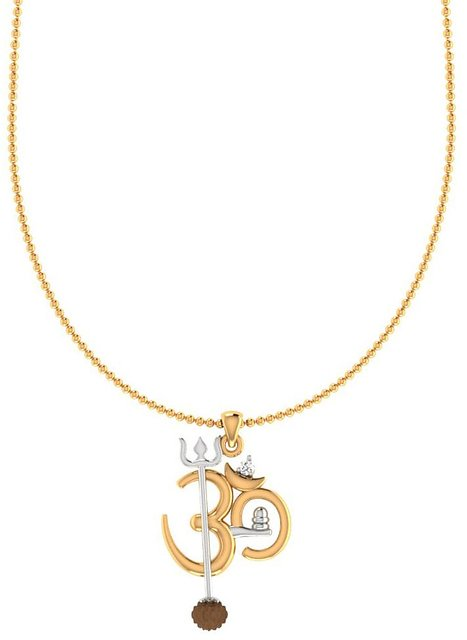 ff57a7a0732 Buy Dare by Voylla OM Design Rudraksha Studded Pendant With Chain For Men  Online - Get 50% Off