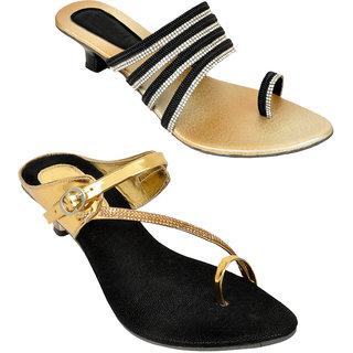 6d33d79eb3b Buy Altek Black and Golden Colored Resin Velvet Kitten for Women (Pack of  2) Online   ₹799 from ShopClues