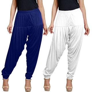 Eazy Trendz Womens Lycra Viscse Patiala Pack of 2