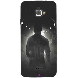 Snooky Printed 1050,messi black and white Football Mobile Back Cover of InFocus M350 - Multi