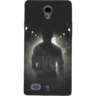 Snooky Printed 1050,messi black and white Football Mobile Back Cover of Oppo Joy 3 - Multi