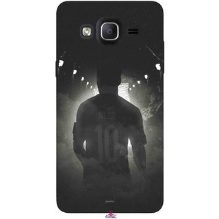 Snooky Printed 1050,messi black and white Football Mobile Back Cover of Samsung Galaxy On7 - Multi