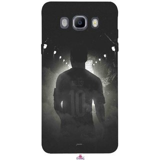 Snooky Printed 1050,messi black and white Football Mobile Back Cover of Samsung Galaxy On8 - Multi