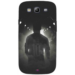 Snooky Printed 1050,messi black and white Football Mobile Back Cover of Samsung Galaxy S3 - Multi