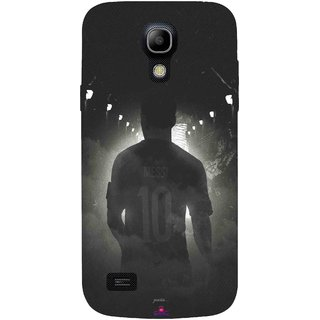 Snooky Printed 1050,messi black and white Football Mobile Back Cover of Samsung Galaxy S4 - Multi