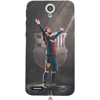 Snooky Printed 1052,Messi Fcb BarcelonaLeonel Messi Nachos Ronaldo Mobile Back Cover of InFocus M260 - Multi