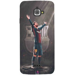Snooky Printed 1052,Messi Fcb BarcelonaLeonel Messi Nachos Ronaldo Mobile Back Cover of InFocus M350 - Multi