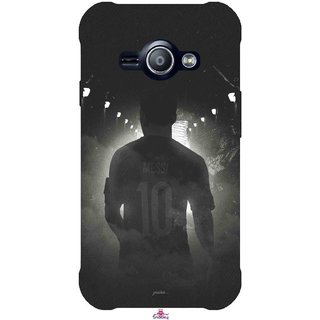Snooky Printed 1050,messi black and white Football Mobile Back Cover of Samsung Galaxy Ace J1 - Multi