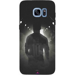 Snooky Printed 1050,messi black and white Football Mobile Back Cover of Samsung Galaxy S7 Edge - Multi