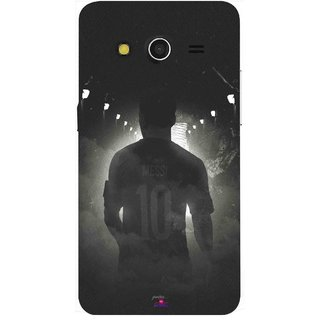 Snooky Printed 1050,messi black and white Football Mobile Back Cover of Samsung Galaxy Core 2 - Multi