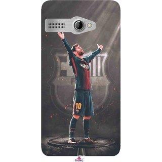 Snooky Printed 1052,Messi Fcb BarcelonaLeonel Messi Nachos Ronaldo Mobile Back Cover of Intex Aqua 3G Pro - Multi