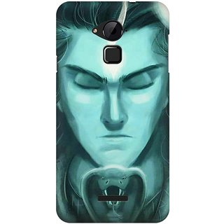 Mobicture Lord Shiva In Front Of Snake With Closed Eyes Premium Printed High Quality Polycarbonate Hard Back Case Cover For Coolpad Note 3 With Edge To Edge Printing