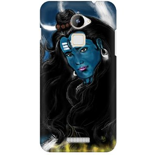 Mobicture God Shiva Bluish Abstract Premium Printed High Quality Polycarbonate Hard Back Case Cover For Coolpad Note 3 Lite With Edge To Edge Printing