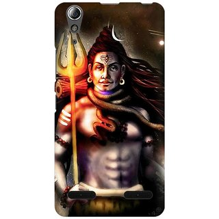 Mobicture Lord Shiva Animated Artwork Premium Printed High Quality Polycarbonate Hard Back Case Cover For Lenovo A6000 Plus With Edge To Edge Printing