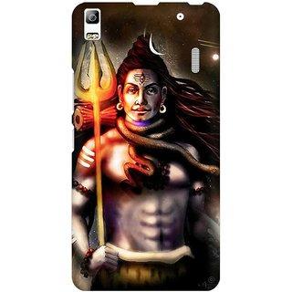 Mobicture Lord Shiva Animated Artwork Premium Printed High Quality Polycarbonate Hard Back Case Cover For Lenovo A7000 With Edge To Edge Printing