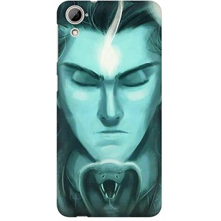 Mobicture Lord Shiva In Front Of Snake With Closed Eyes Premium Printed High Quality Polycarbonate Hard Back Case Cover For HTC Desire 820 With Edge To Edge Printing