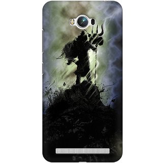 Mobicture Lord Shiva Standing On The Mountain With Trishul Premium Printed High Quality Polycarbonate Hard Back Case Cover For Asus Zenfone Max With Edge To Edge Printing