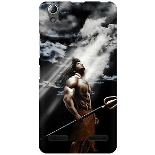 Mobicture Lord Shiva Looking Into The Sky Premium Printed High Quality Polycarbonate Hard Back Case Cover For Lenovo A6000 Plus With Edge To Edge Printing