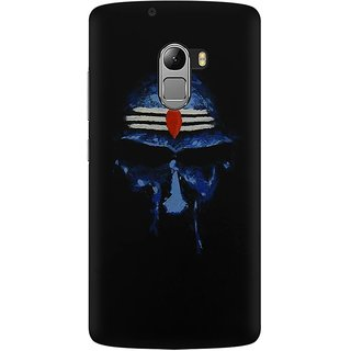 Mobicture Lord Shiva Face In Dark Background Premium Printed High Quality Polycarbonate Hard Back Case Cover For Lenovo A7010 With Edge To Edge Printing