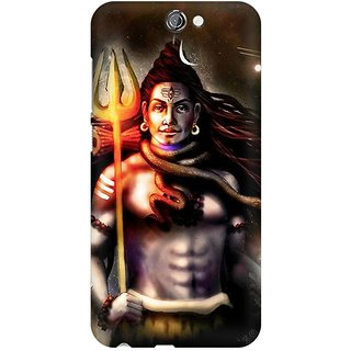 Mobicture Lord Shiva Animated Artwork Premium Printed High Quality Polycarbonate Hard Back Case Cover For HTC One A9 With Edge To Edge Printing