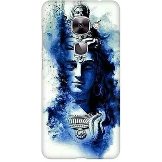 Mobicture Lord Shiva Statue With Blue Splash Premium Printed High Quality Polycarbonate Hard Back Case Cover For LeEco Le 2 With Edge To Edge Printing