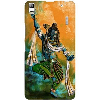 Mobicture Lord Shiva Painting Art Work Premium Printed High Quality Polycarbonate Hard Back Case Cover For Lenovo A7000 With Edge To Edge Printing