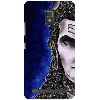 Mobicture Lord Shiva Thinking With Eyes Closed Premium Printed High Quality Polycarbonate Hard Back Case Cover For Lenovo A6600 With Edge To Edge Printing