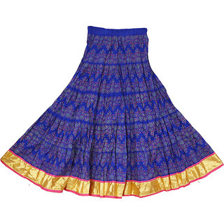 6924e3acfca Buy Adiboo Long Skirt cotton made blue colored printed for girls 6-11  years. Online - Get 58% Off