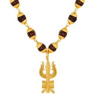 Dare by Voylla Gold-Plated Mahadev Trishul Dumroo Necklace