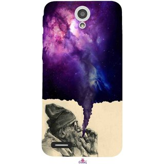 Snooky Printed 1067,old man smoking weed Mobile Back Cover of InFocus M260 - Multi