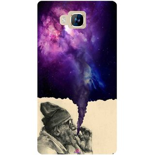 Snooky Printed 1067,old man smoking weed Mobile Back Cover of LYF Wind 2 - Multi