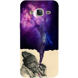 Snooky Printed 1067,old man smoking weed Mobile Back Cover of Samsung Galaxy J3 Pro - Multi