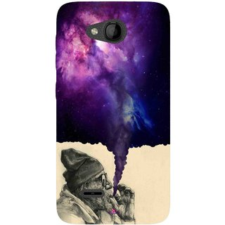 Snooky Printed 1067,old man smoking weed Mobile Back Cover of Panasonic Love T35 - Multi