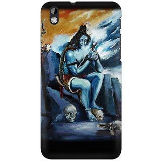 Mobicture Smoking Lord Shiva Art Work With Perfection Premium Printed High Quality Polycarbonate Hard Back Case Cover For HTC Desire 816 With Edge To Edge Printing