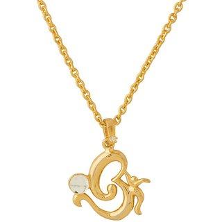 Dare by Voylla Om Designer Pendant With Chain