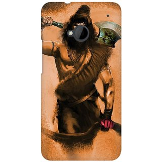 Mobicture Shiva With Axe In His Hand Art Work Vector Premium Printed High Quality Polycarbonate Hard Back Case Cover For HTC One M7 With Edge To Edge Printing