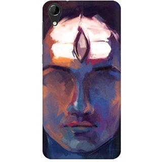 Mobicture Thrid Eye Of Lord Shiva Premium Printed High Quality Polycarbonate Hard Back Case Cover For HTC Desire 728 With Edge To Edge Printing