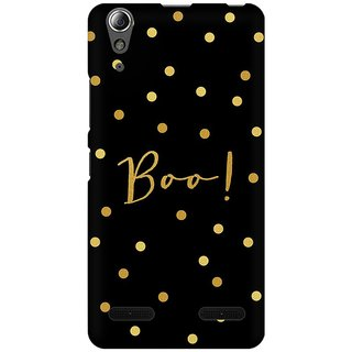 Mobicture Boo Premium Printed High Quality Polycarbonate Hard Back Case Cover For Lenovo A6000 Plus With Edge To Edge Printing
