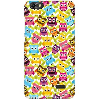 Mobicture Cute Owls Premium Printed High Quality Polycarbonate Hard Back Case Cover For Huawei Honor 4C With Edge To Edge Printing