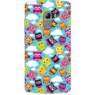Mobicture Cute Owls Premium Printed High Quality Polycarbonate Hard Back Case Cover For Lenovo A7010 With Edge To Edge Printing